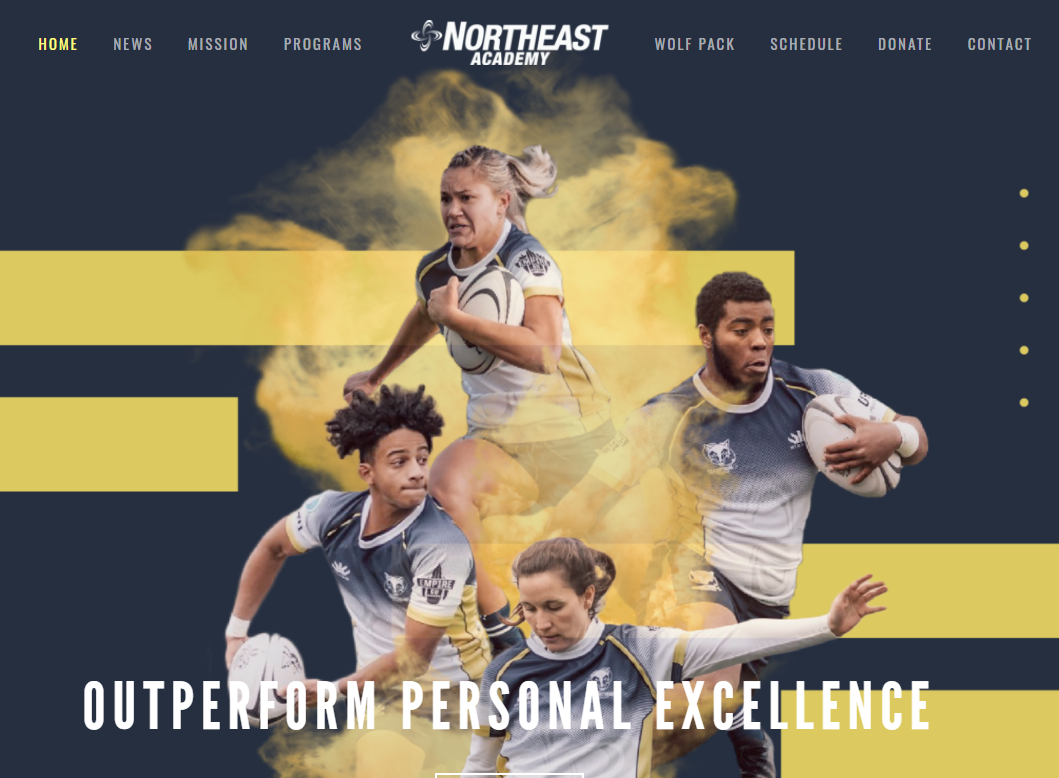 Northeast Academy offering rugby clinic on 2/6/21 (Co-ed U18 players)